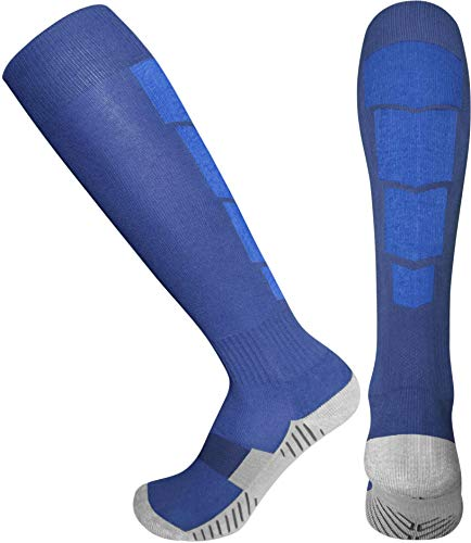 Elite Athletic Socks - Over The Calf - Navy Blue/Blue (Medium, Navy Blue/Blue)
