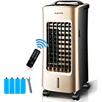 JiaQi Personal Air Cooler,Air Conditioner Fan,Portable Office Air Conditioner Cooling Humidification-Golden