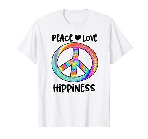 Tye Dye Peace Sign (Peace Love Hippiness Tye Dye Peace Sign 70s Party)