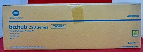 Genuine Konica Minolta TN318Y Yellow Toner Catridge for Bizhub C20 (Konica Minolta Bizhub C20p)