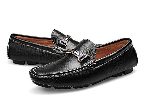 Mocasine Mocasines Del Studio Hombre Zapatos Zapatos Negro de de SK Barco Conducción Cuero Respirable Calzado aOwcx