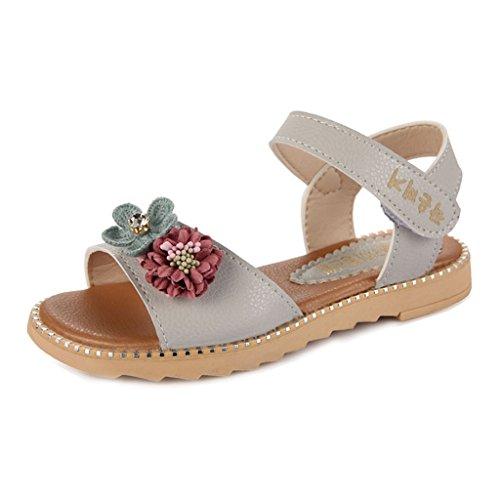 r Solid Flower Hot Water Outdoor Sport Walke Casual Sandals(Toddler/Little Kid) (Sandal Nut)