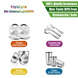 Toddlers Kids 18/8 Stainless Steel Plates, HaWare