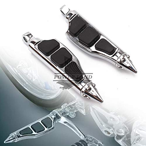 - Frames & Fittings Chroming Motorcycle Footrest Passenger Rear Foot Pegs Stiletto Footpegs Mount for Harley Softail Sportster 0517