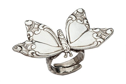 Silver Spoon Unique Beautiful Collector Adjustable Ring Butterfly RF