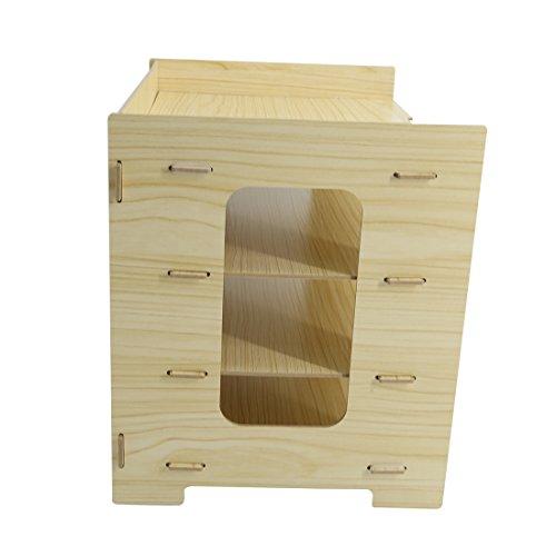 PeleusTech® 4 Layers Wood Storage Rack Durable Office Organization for File Desktop Organizer Shelf for Books Documents - (Wood Grain) by PeleusTech® (Image #5)