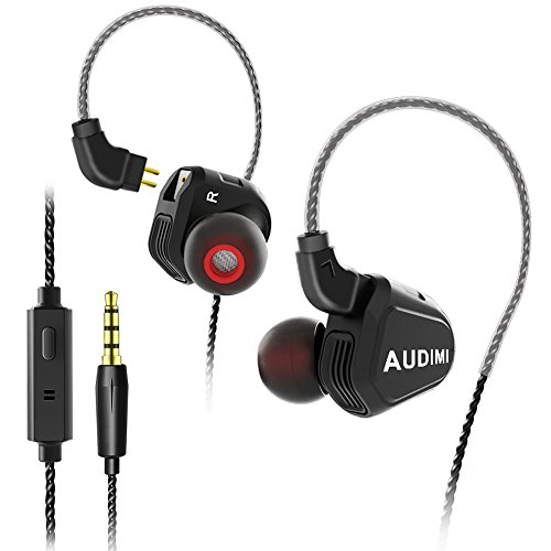 Wired Earbuds, AUDIMI Y02 Cored Earphones Hybrid Balanced Ar