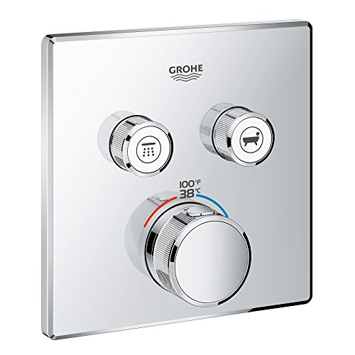 Grohe 29141000 Grohtherm SmartControl Thermostatic Trim, StarLight Chrome ()