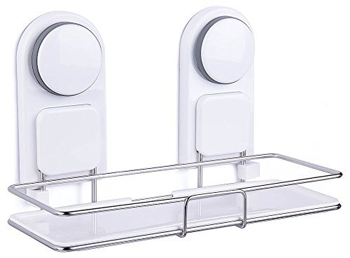 DEKINMAX Shower Shelf Holder with Suction Cups, Stainless Steel Bathroom Kitchen Organizer low-cost
