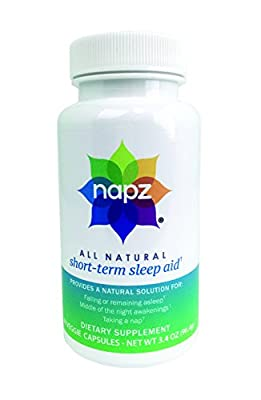 Napz, All Natural, Short-Term Sleep Aid, 60 Vegetable Capsules / 30 day serving (Pure Formula with Chamomile, Passion Flower, Lemon Balm, Hibiscus)