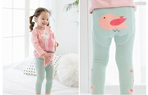 Omiky® Mode Kinder Baby Jungen Mädchen Leggings Wärmer Baumwolle PP Hosen Hosen Kleider Grün