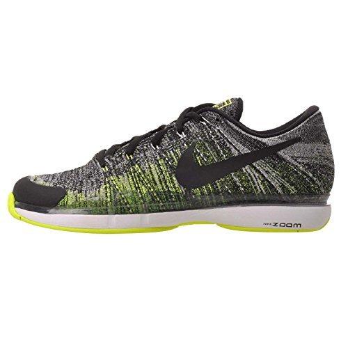 Nike Mens Zoom Vapor Flyknit  Black Black Volt White  11 5 M Us