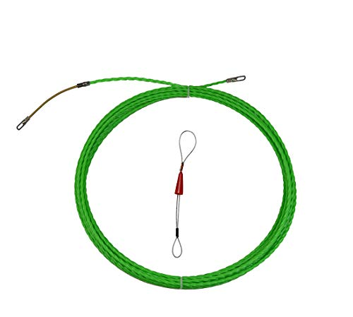 Fish Tape Electrical Wire Threader Wire Puller and Fish Tape Fastener tool 33 FT(10M) UP Grade Large Leader Hole (Wall Puller Tool)