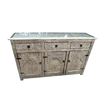 Moroccan Console Storage Buffet Arabic Furniture Drawer XL H:36xW:15xL:60
