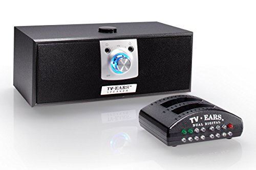 TV Ears Digital Wireless Speaker System, Place near your chair or couch, transmitter connects to both Digital and Analog TV's and is compatible with TV Ears headsets, TV Hearing Aid -