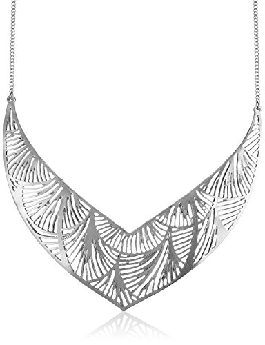 Accessorize Collar Necklace for Women (Silver)(MN-18245412001)