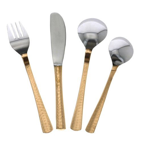 Indian dinnerware spoon fork knife set cutlery flatware service for 2 in flatware - Knives and forks sets ...