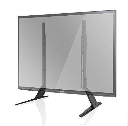 1home Universal Tisch Fernseher Standfuß Fernsehtisch TV Ständer TV Halterung Höhenverstellbar Schwenkbar Fernsehstand für LCD LED 32 - 60 Zoll
