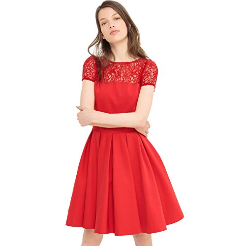 Rosso Redoute Pizzo Con Mademoiselle Parte In La Donna Posteriore Abito R Sottogonna FwPxdHq