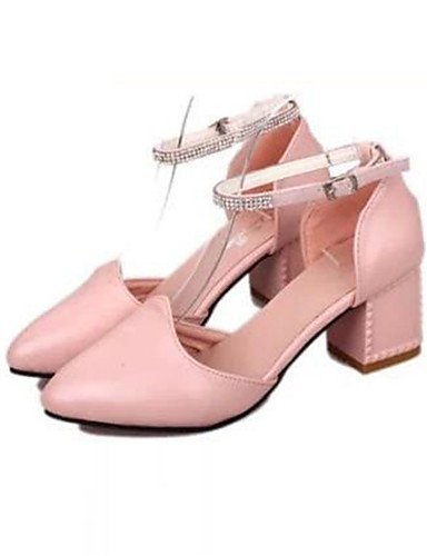 Viola robusto rosa di CN36 mujer Bianco Scarpe e vestido UK4 tac ® notte EU36 ZQ us6 5 semicuero 7 uk4 5 ¨ n tacones tacones fiesta Bianco eu37 cn37 US6 rosa 5 q0Zxadw