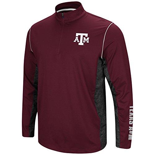 Colosseum Men's NCAA-Coffee Break-1/4 Zip Pullover Windshirt-Texas A&M Aggies-Burgundy-Large (Texas Coffee A&m Aggies)