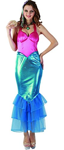 Mother And Daughter Fancy Dress Costumes (YOU LOOK UGLY TODAY Women's Amazing SWEET MERMAID LADY Halloween Party Costume Dress -Large)