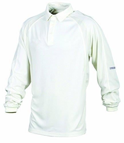 Prostar Men's Solar Long Sleeve Cricket Jersey 26/28 Inch Ivory/Ivory by Prostar