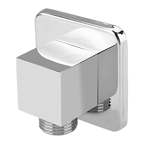 (Solid Brass Shower Wall Outlet Chrome Finish Square Spray Head Elbow Wall-Mounted Angle Valve Concealed for Bathroom )