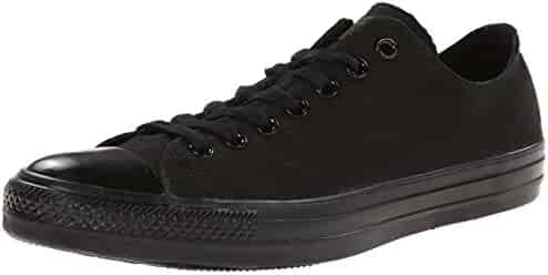 Converse Unisex Chuck Taylor All Star Low Top Black Monochrome Sneakers - 8 B(M) US Women / 6 D(M) US Men