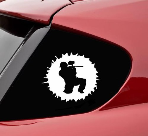 Paintballing guy paintball Vinyl Decal Sticker