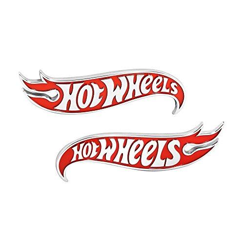 Chevy Camaro Hot Wheels LH & RH Fender Emblems - Red & (Chevy Camaro Fender)