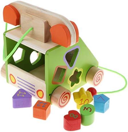 DYNWAVE 子供の発達のおもちゃのための固定電話のふり遊びに沿って木製のプル