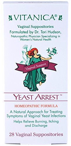 Digest Formula Herbal Candida - Vitanica, Yeast Arrest Suppositories, 28 Capsules