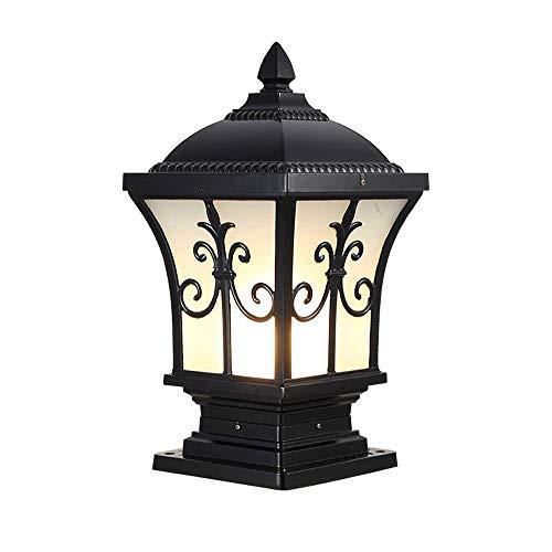 (Modenny Pillar Post Lights European Villa Outdoor Waterproof Landscape Lighting Pillar Pole Lamp Antique Die-cast Aluminum Black Balcony Corridor Fence Entrance Outside Column Light)