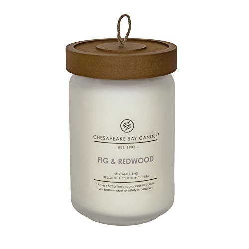Chesapeake Bay Candle Heritage Scented Candle, Fig and Redwood, Large -
