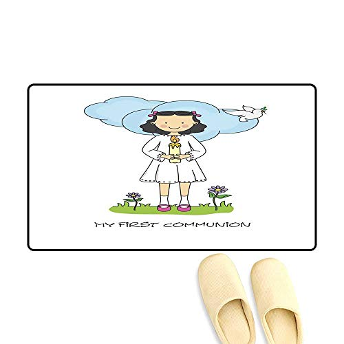 doormatGirl First Communion Card Outdoor Doormat 50x80cm