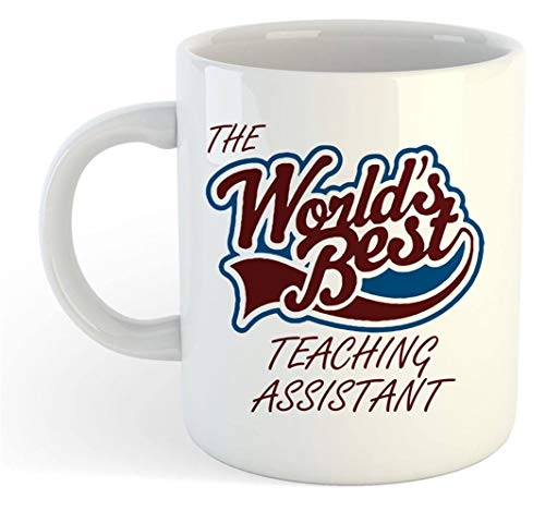 YellowStar.CN52 - The Worlds Best Teaching Assistant Mug, 11oz Ceramic Coffee Mug/Cup/Drinkware, High Gloss