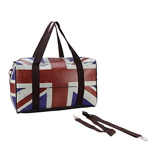 """16"""" British Flag Travel Bag With Handles And Crossbody Strap Northlight"""
