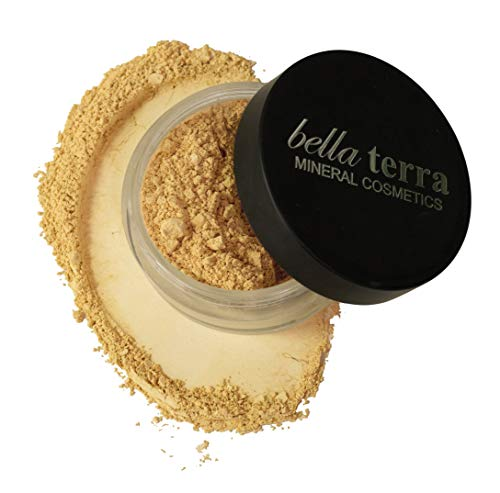 Bella Terra Mineral Powder Foundation | Long-Lasting All-Day Wear | Buildable Sheer to Full Coverage - Matte| Sensitive Skin Approved | Natural SPF 15 (Ivory) 9 grams (Best Natural Foundation For Sensitive Skin)