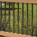 "Estate 26"" Square Baluster, Bronze, 50-Pack (Deckorators 95878)"