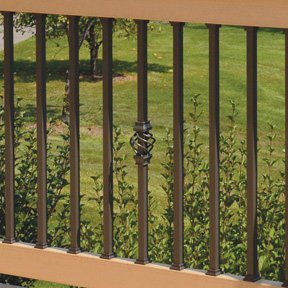 "Estate 26"" Square Baluster, Bronze, 50-Pack (Deckorators 95878) by Deckorators"