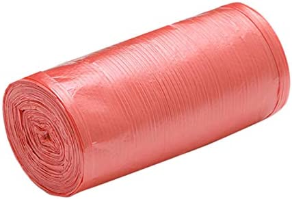 TOOGOO 1 Rollos 50 X 46 Cm Bolsas De Basura un Solo Color Grueso Conveniente Ambiental PláStico Bolsas De Basura Bolsa De PláStico Desechable Rojo