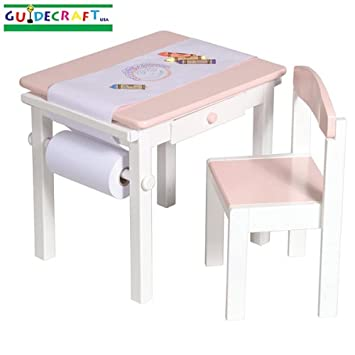Amazon.com: Guidecraft Art Table And Chair Set - Pink: Baby