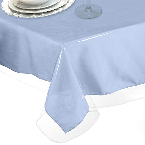 LAMINET Heavy-Duty Deluxe Crystal Clear Vinyl Tablecloth Protector 60