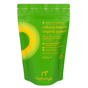 Naturya Organic Green Blend Protein Mix Shake Powder Increases Energy, Vitality and Well Being Nutritional Power Superfood