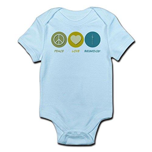 CafePress Peace Love Rheumatology Infant Bodysuit - Cute Infant Bodysuit Baby Romper