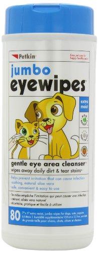 Petkin Jumbo Eyewipes, 80-Count (Pack of 4), My Pet Supplies