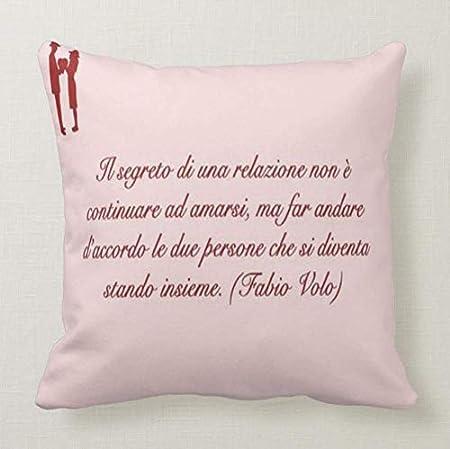Pillow Pillow Cuscino Personalizzato 40x40 Frase Fabio Volo