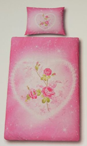 Essena Biber Bettwäsche Pink Herz Mit Rosen 140x200 70x90 Amazon