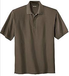 Joe's USA Men's Classic Polo Shirts - Regular X-Small (32-34) - Black